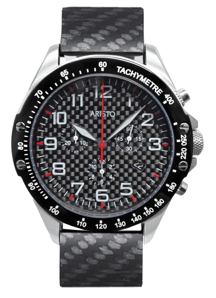 Herrenuhr Carbon-Chrono Trophy Rot 4H157